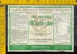 Etichetta Acqua Minerale Fonte Gaudianello Di Monticchio PZ - Altri