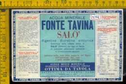 Etichetta Acqua Minerale Fonte Tavina Salò BS - Altri