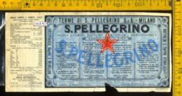 Etichetta Acqua Minerale S. Pellegrino  BG (difetto) - Altri