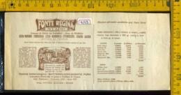 Etichetta Acqua Minerale Fonte Regina Staro VI - Altri