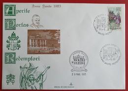 ITALIA SAN GIOVANNI IN LATERANO ROMA APERITE PORTAS REDEMPTORIS PMK: ROMA APPIO Jubilaeum ANNO SANTO 1983 - 6. 1946-.. Republic