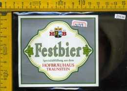 Etichetta Birra Festbier Hofbrauhaus Germania - Birra