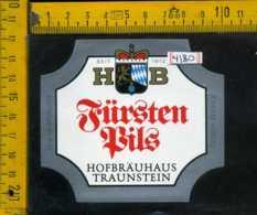 Etichetta Birra Fursten Pils Hofbrauhaus Germania - Birra