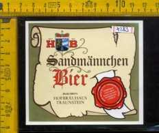 Etichetta Birra  Sandmannchen Bier Hofbrauhaus Germania - Birra