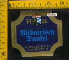 Etichetta Birra Zutbayrisch Hofbrauhaus Germania - Birra
