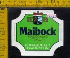 Etichetta Birra Maibock Edeltrunk Hofbrauhaus Germania - Birra