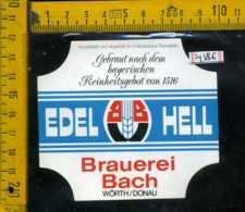 Etichetta Birra Edel Hell Brauerei Basch Germania - Birra