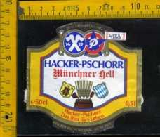 Etichetta Birra Hacker-Pschorr Munchen Germania - Birra