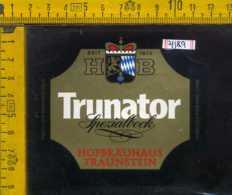 Etichetta Birra Trunator Hofbrauhaus Germania - Birra