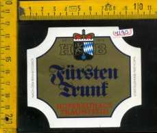 Etichetta Birra Fursten Trunk Hofbrauhaus-Germania - Birra