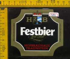 Etichetta Birra Festbier Spezial Hofbrauhaus-Germania - Birra