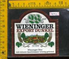 Etichetta Birra Wieninger Bier -Germania - Birra