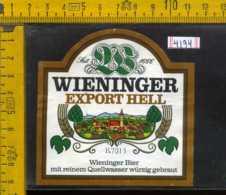 Etichetta Birra Wieninger Export Hell - Germania - Birra