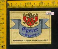 Etichetta Birra Egerer Export Hell - Germania - Birra