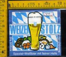 Etichetta Birra Weizen Stolz Spezial-WeiBbier - Germania - Birra