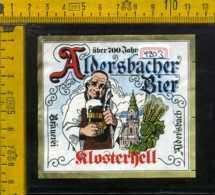 Etichetta Birra Aldersbacher Flosterhell - Germania - Birra