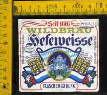 Etichetta Birra Sefeweisse Wildbrau - Germania - Birra