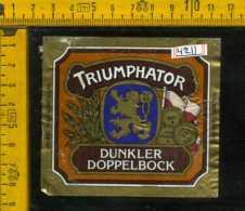 Etichetta Birra Triumphator Lowenbrau - Germania - Birra