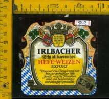 Etichetta Birra Irlbacher Hefe-Weizen - Germania - Birra