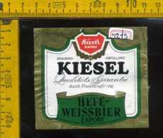 Etichetta Birra Kiesel-Brau Hefe Weissbier - Germania - Birra