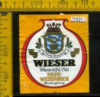 Etichetta Birra Hefe-Weissbier Wieser - Germania - Birra