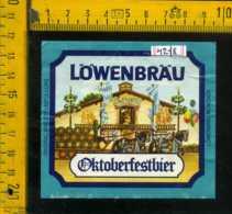 Etichetta Birra Lowenbrau-Oktoberfestbier - Germania - Birra