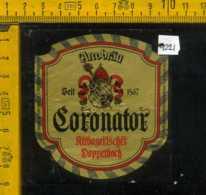 Etichetta Birra Coronator Arcobrau- Germania - Birra