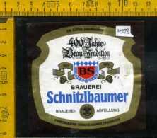 Etichetta Birra Brauerei-Schnitzlbaumer - Germania - Birra