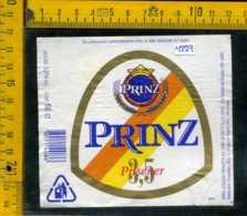 Etichetta Birra Prinz Pilsener  - Moretti Udine - Birra