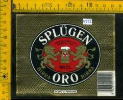 Etichetta Birra Splugen Oro-Poretti SPA Varese - Birra