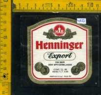 Etichetta Birra Henninger Export - Germania - Birra