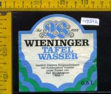 Etichetta Acqua Minerale Wieninger Tafel Wasser - Germania - Altri