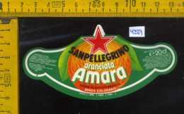Etichetta Bibita Aranciata Amara Sanpellegrino - BG - Etichette