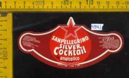 Etichetta Bibita Silver Cocktail Analcolico Sanpellegrino - BG - Altri