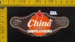 Etichetta Bibita Chinò Il Chinotto Sanpellegrino - BG - Etichette