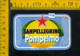 Etichetta Bibita Pompelmo Sanpellegrino - BG - Altri
