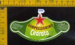 Etichetta Bibita Cedrata Sanpellegrino - BG - Etichette