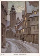 Paul Hey Reihe 635 Nr 6262 Winternacht Im Städtchen Herzliche Neujahrsgrüße Color TOP-Erhaltung Ackermanns Kunstverlag - Hey, Paul