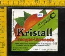 Etichetta Bibita Analcolica Orangen-Limonade Kristall - Germania - Etichette