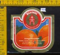 Etichetta Bibita Analcolica Orangenlimonade Steinli - Germania - Etichette