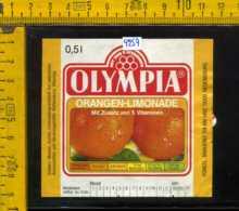 Etichetta Bibita Analcolica Orangen-Limonade Olympia - Germania - Etichette