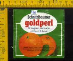 Etichetta Bibita Analcolica Orangen-Limonade Goldperl - Germania - Etichette