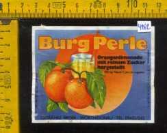 Etichetta Bibita Analcolica Orangen-Limonade Burg Perle - Germania - Etichette