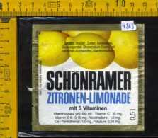 Etichetta Bibita Analcolica Zitronen-Limonade Schonramer - Germania - Altri