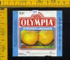 Etichetta Bibita Analcolica Zitronen-Limonade Olympia - Germania - Altri