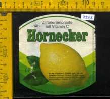 Etichetta Bibita Analcolica Zitronen-Limonade Hornecker - Germania (difetto) - Altri