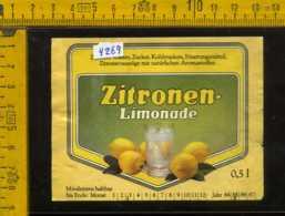 Etichetta Bibita Analcolica Zitronen-Limonade Lowenbrauerei - Germania - Etichette