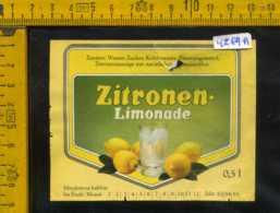 Etichetta Bibita Analcolica Zitronen-Limonade Lowenbrauerei - Germania (difetto) - Etichette