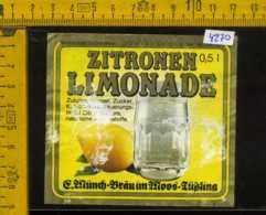 Etichetta Bibita Analcolica Zitronen-Limonade - Germania (difetto) - Etichette