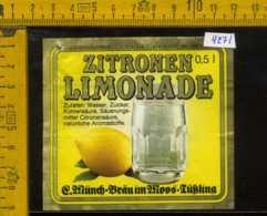 Etichetta Bibita Analcolica Zitronen-Limonade - Germania - Etichette